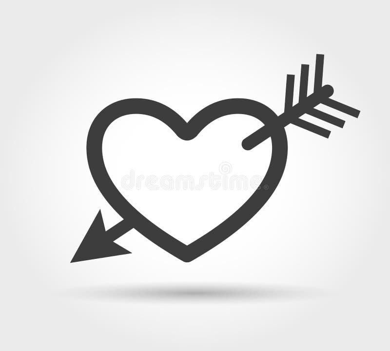 Corazón con el icono de la flecha libre illustration