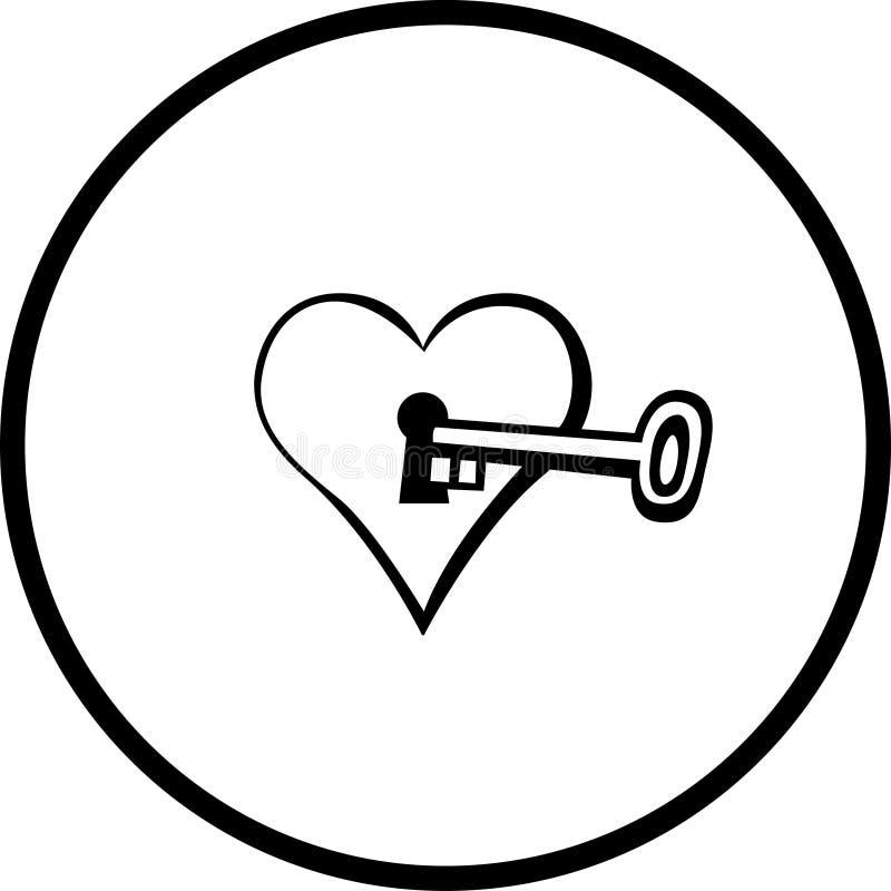 Corazón con el ojo de la cerradura stock de ilustración