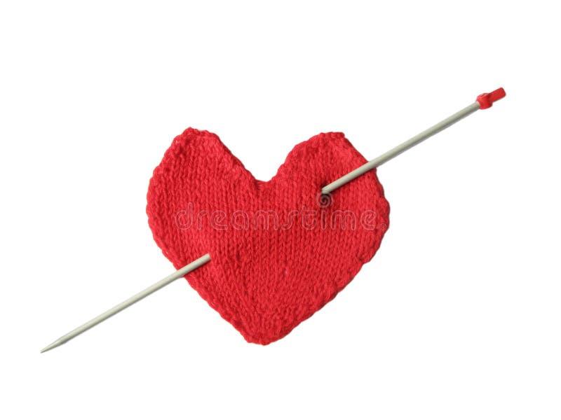 Corazón con la flecha de los eros imagen de archivo