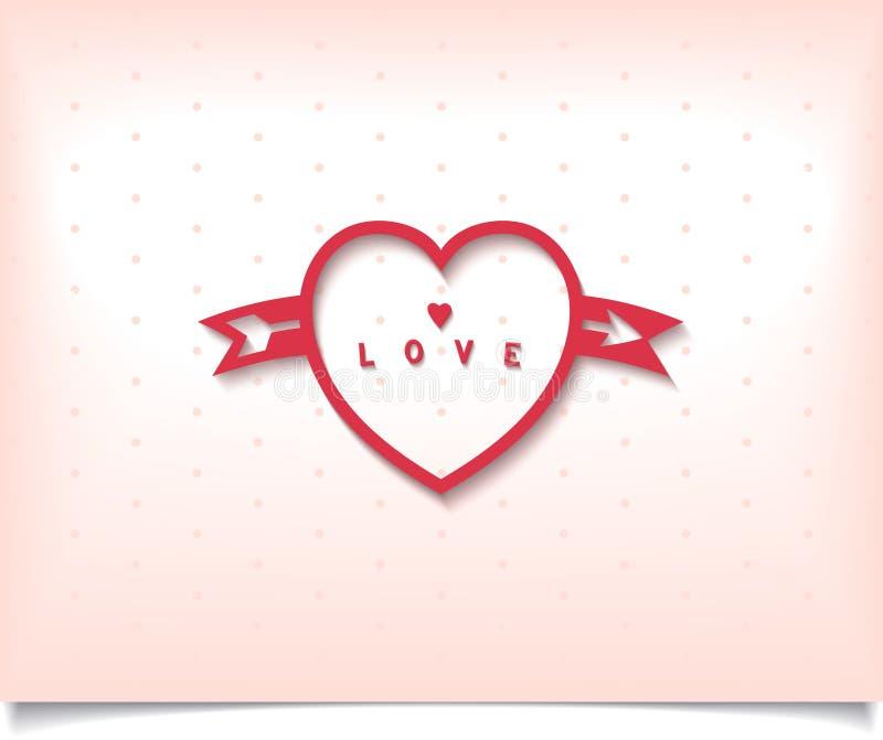 Corazón con la flecha y el lunar ilustración del vector