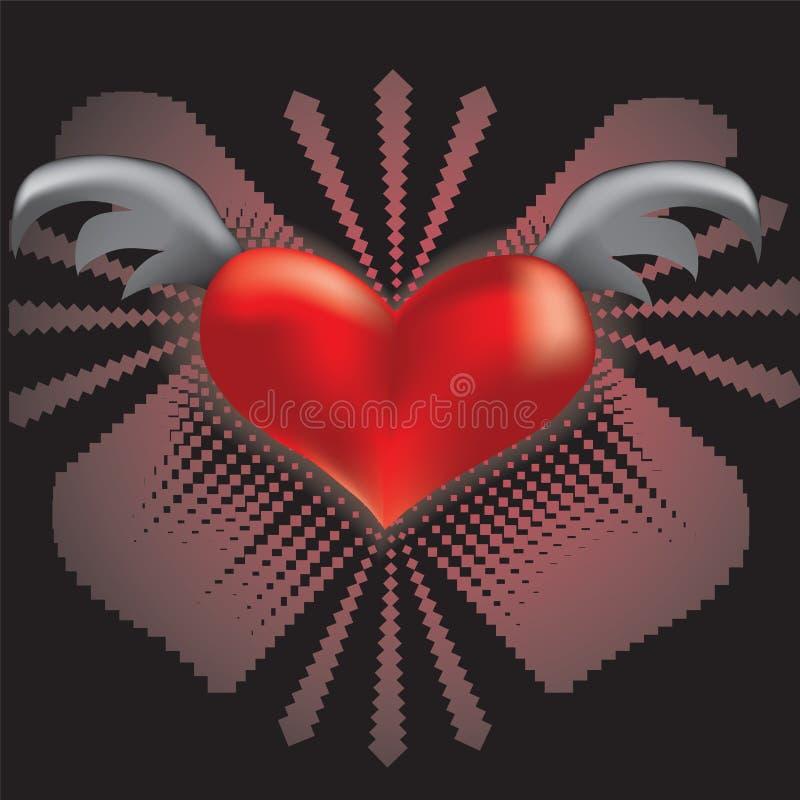 Corazón con las alas fotos de archivo libres de regalías