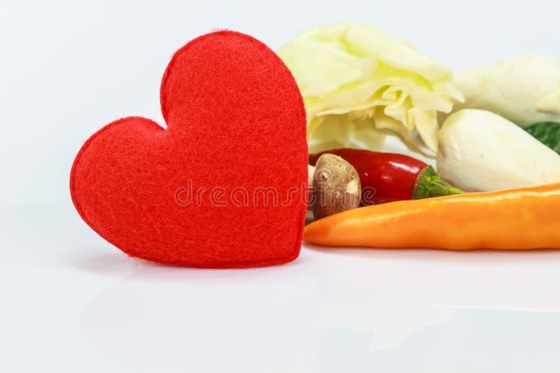 Corazón con las verduras frescas para cocinar foto de archivo libre de regalías