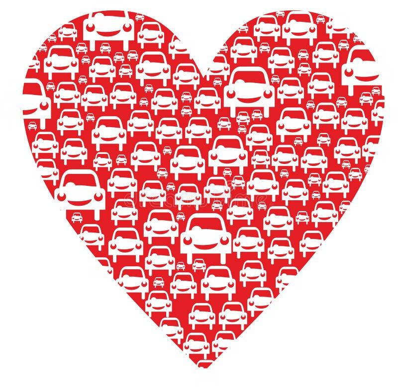 Corazón con los coches libre illustration