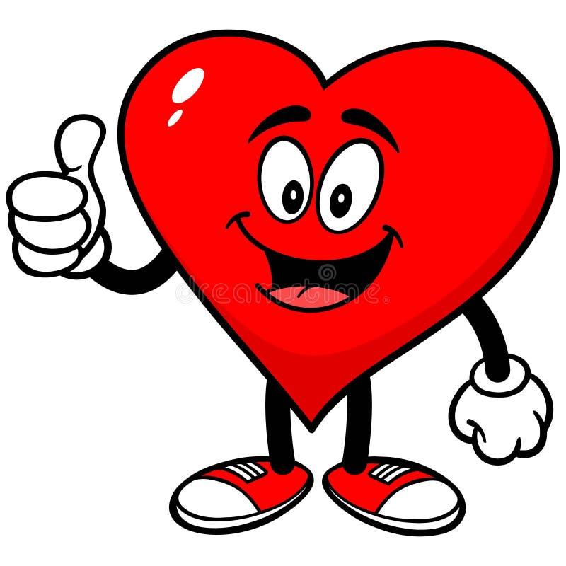 Corazón con los pulgares para arriba libre illustration