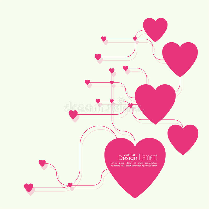 Corazón con vínculos libre illustration