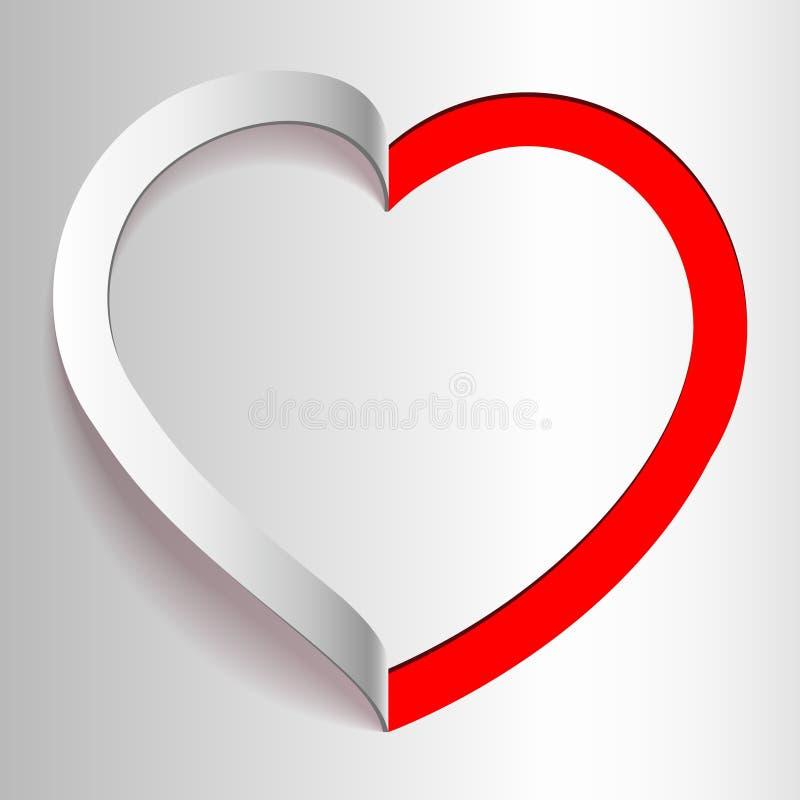 Corazón cortado del papel. El día de tarjeta del día de San Valentín stock de ilustración