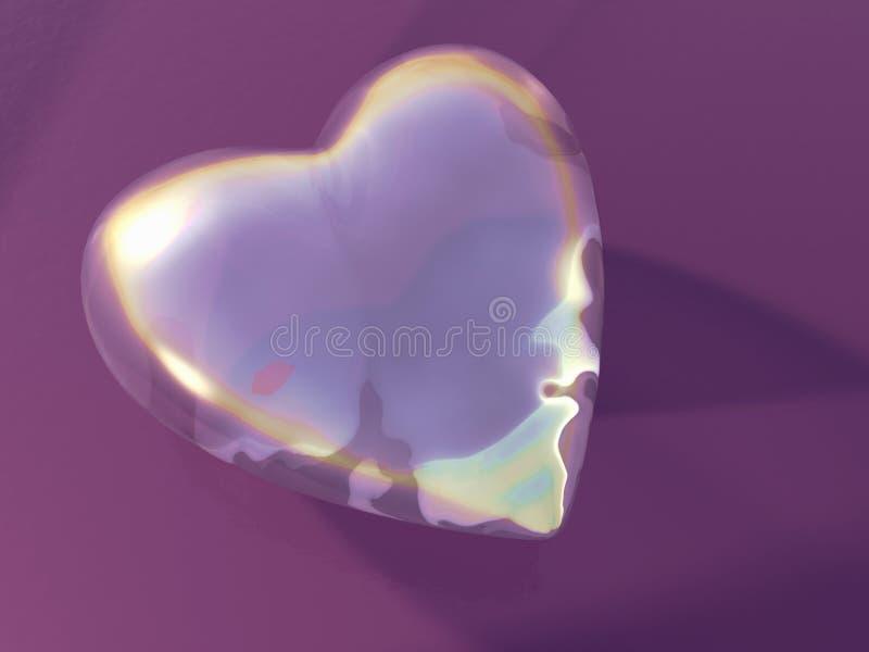 Corazón de cristal fotografía de archivo