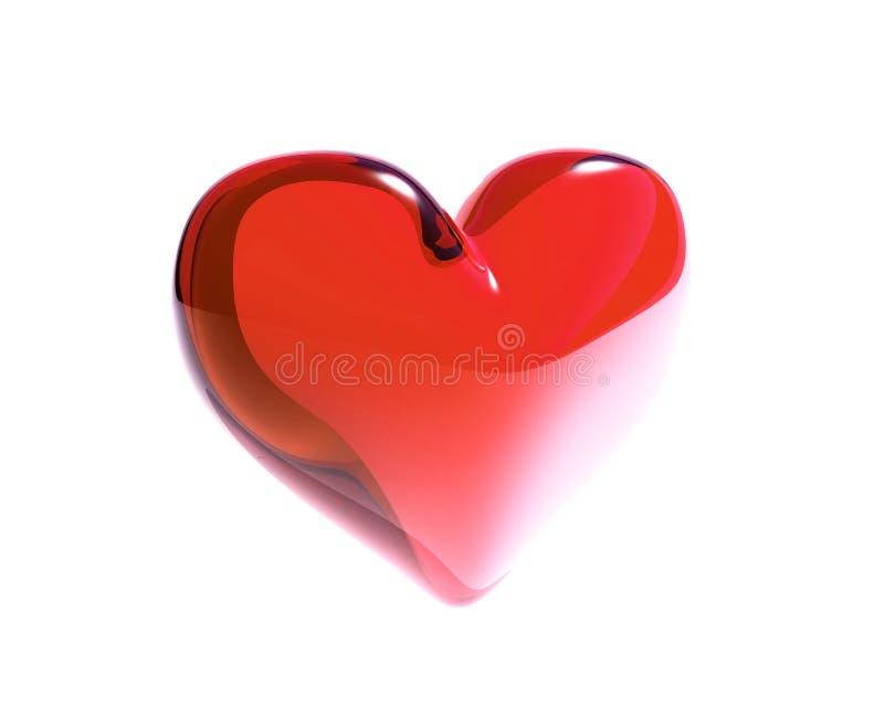 Corazón de cristal rojo aislado libre illustration