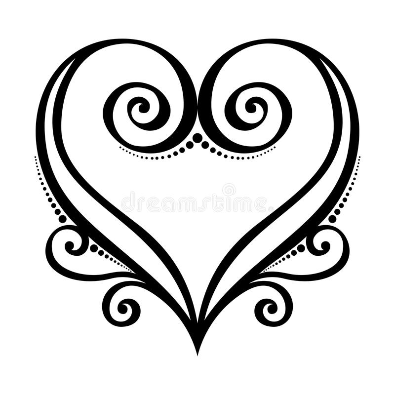 Corazón de Deco stock de ilustración