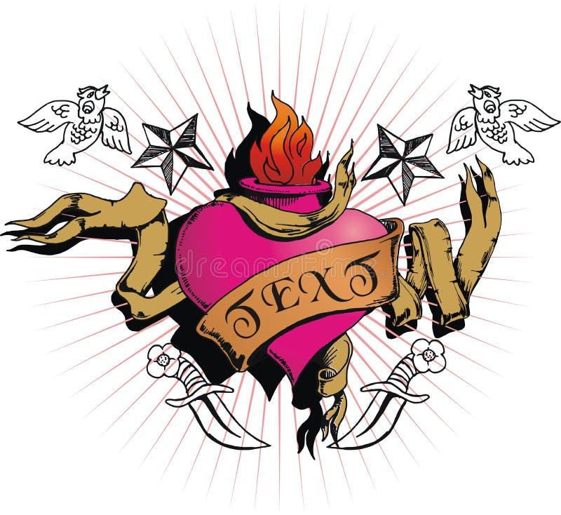 Corazón de EMO imagen de archivo
