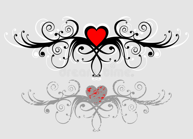 Corazón de Floral_ ilustración del vector