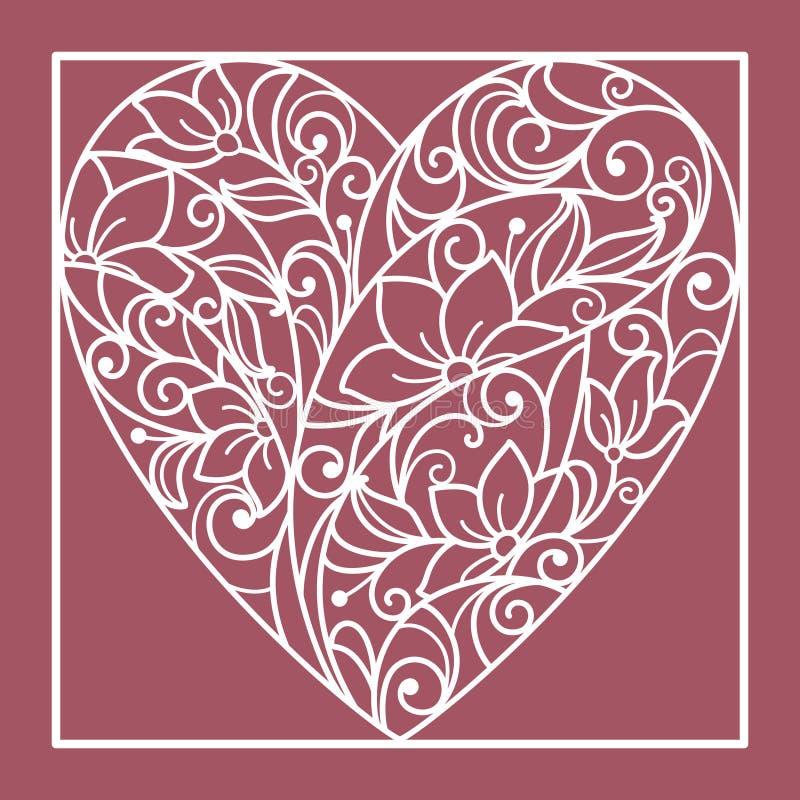 Corazón de flores ilustración del vector