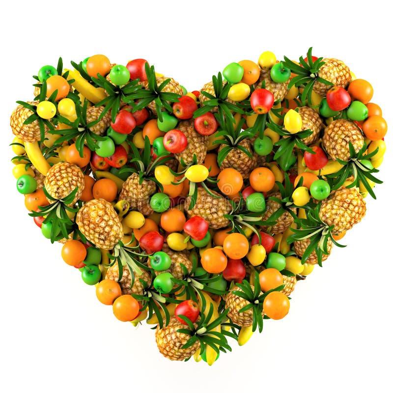 Corazón de frutas. libre illustration