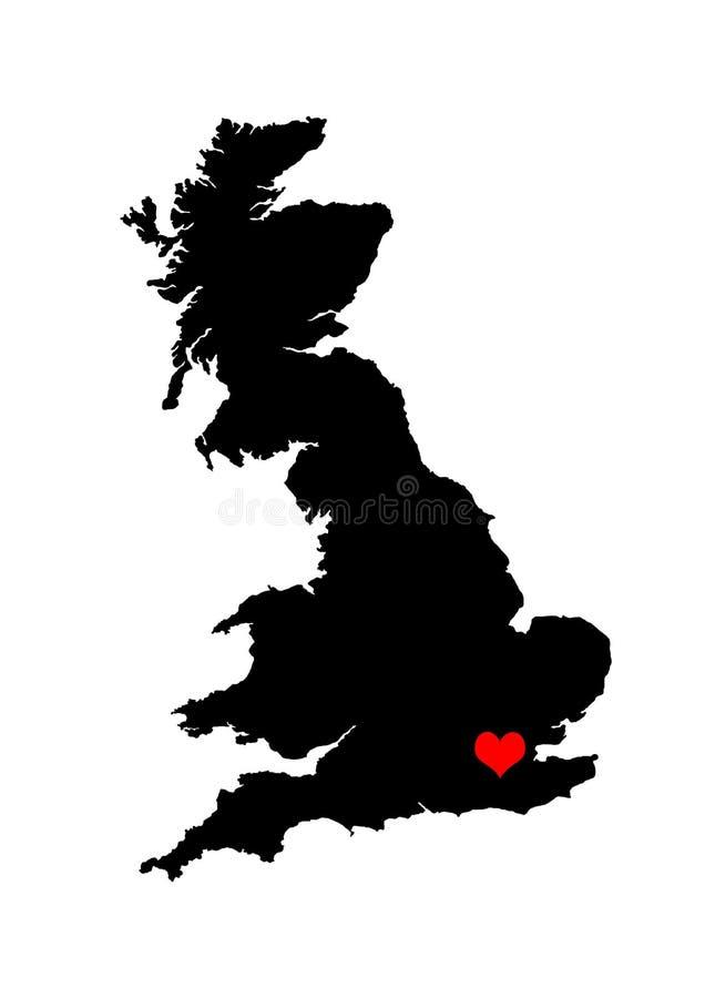 Corazón de Inglaterra fotos de archivo