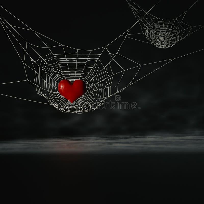 Corazón de la araña libre illustration
