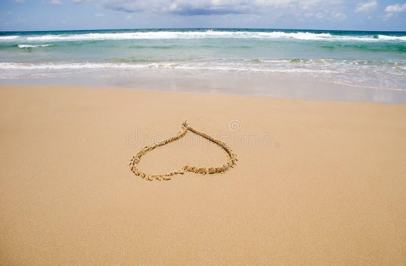 Corazón de la arena imagenes de archivo