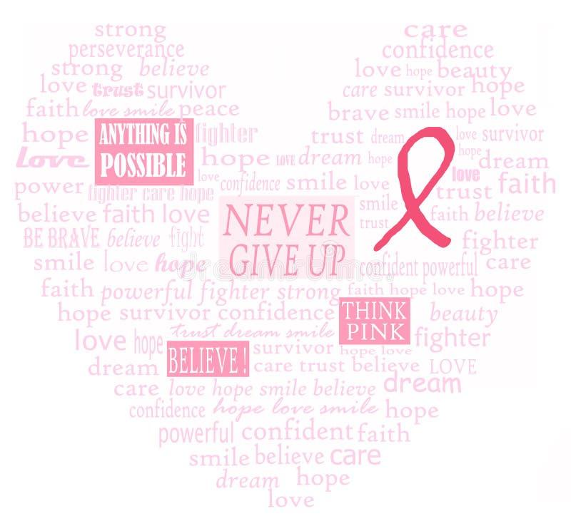 Corazón de la ayuda del cáncer de pecho libre illustration