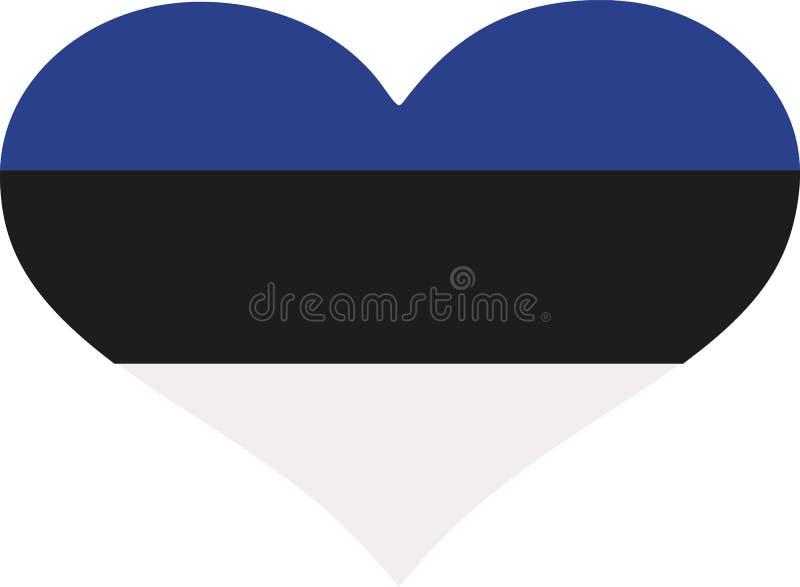 Corazón de la bandera de Estonia stock de ilustración