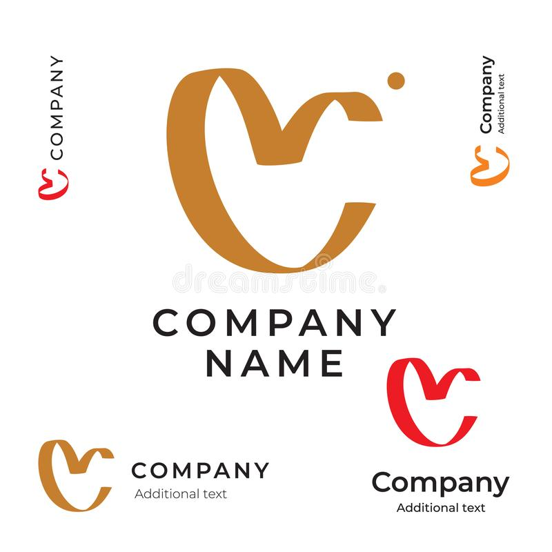 Corazón de la belleza Logo Simple de la cinta y de la plantilla determinada de la identidad de la marca del icono del concepto li libre illustration