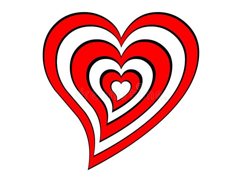 Corazón de la blanco ilustración del vector