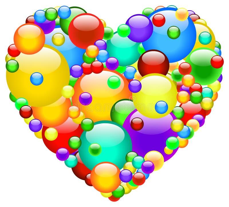 Corazón de la burbuja ilustración del vector