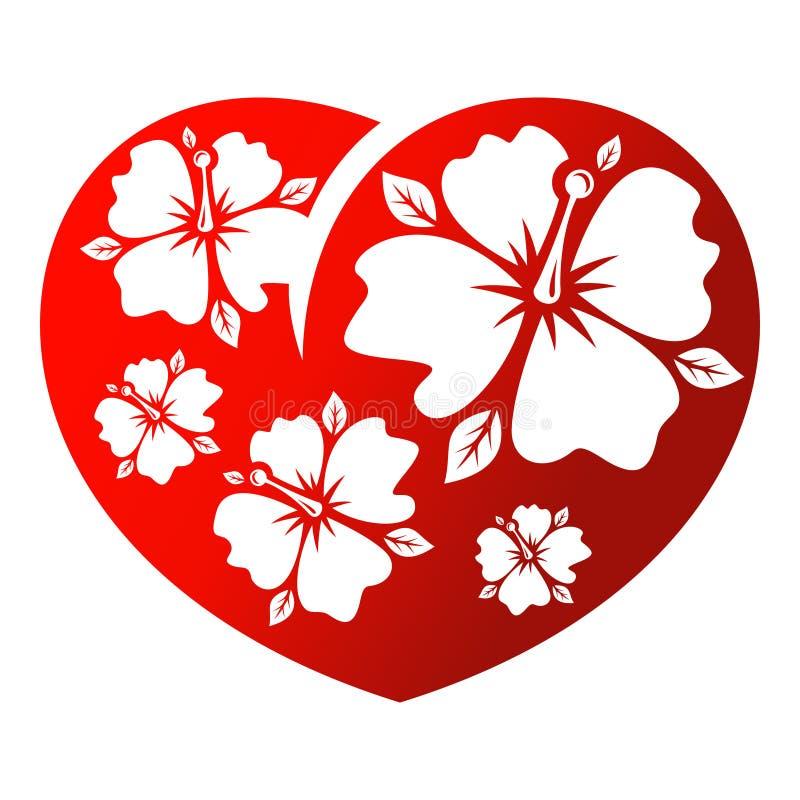 Download Corazón de la flor stock de ilustración. Ilustración de insignia - 42434969