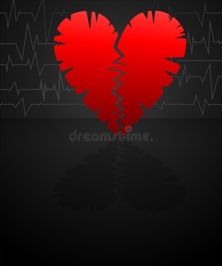 Corazón de la grieta ilustración del vector