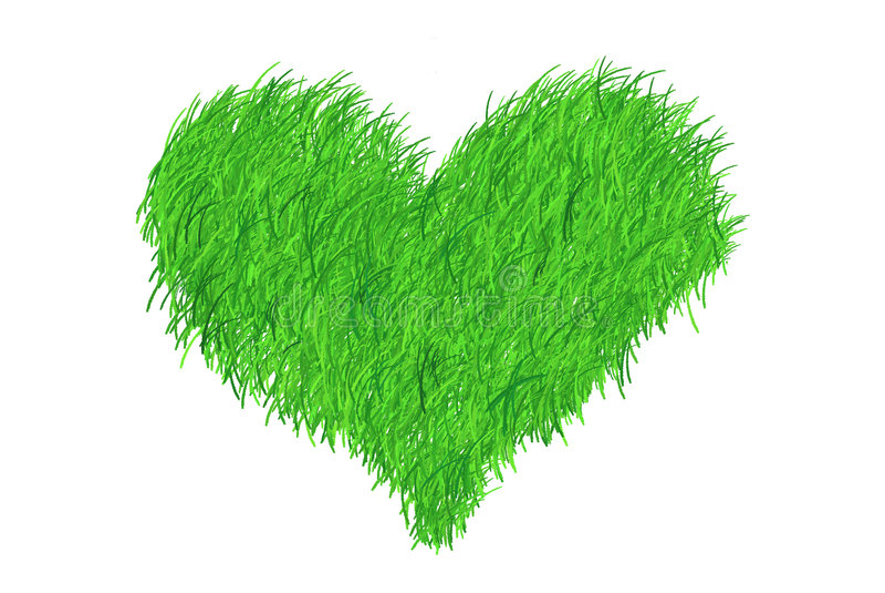 Corazón de la hierba imagen de archivo