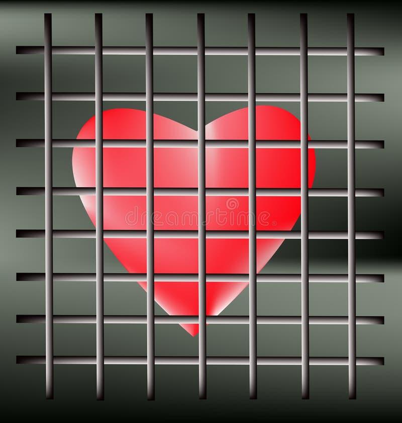 Corazón de la jaula ilustración del vector