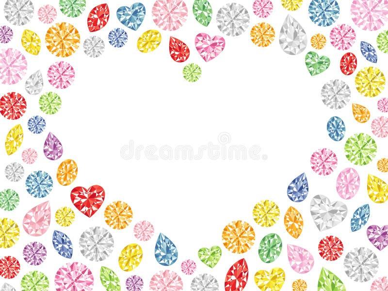 Corazón de la joya colorida libre illustration