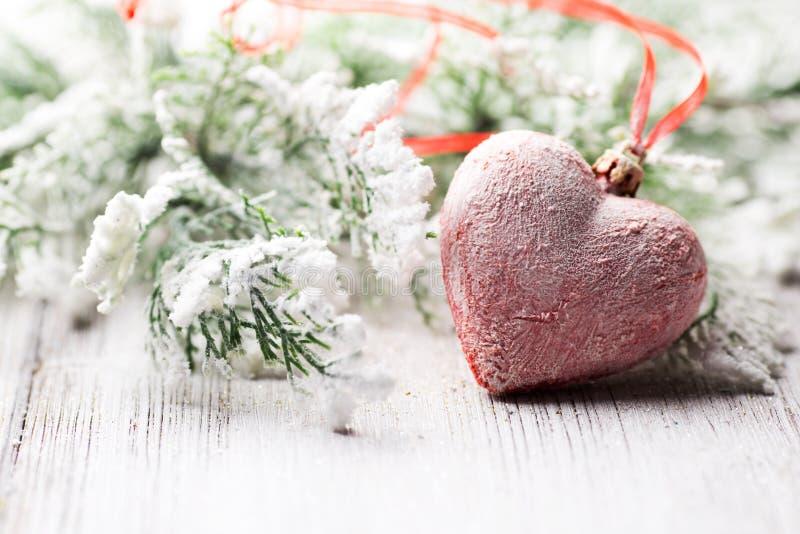 Corazón de la Navidad. foto de archivo