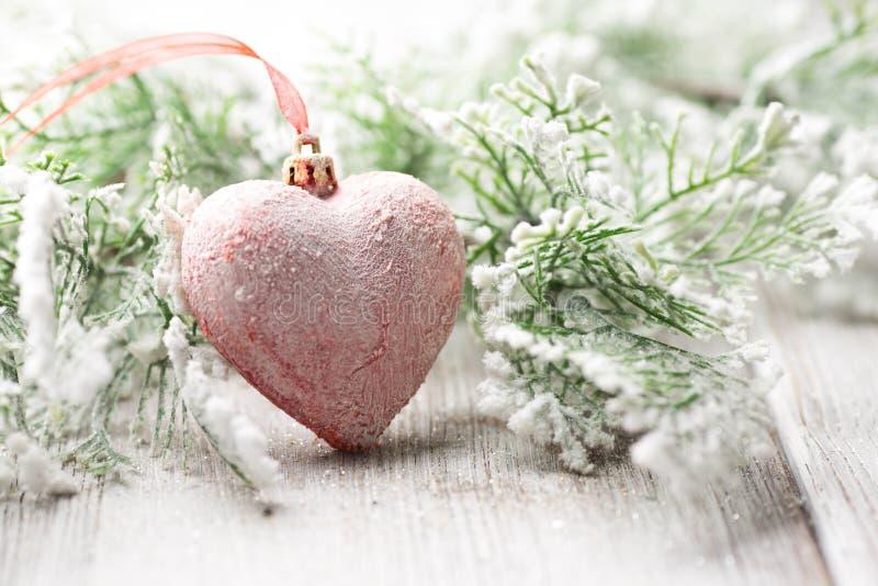 Corazón de la Navidad. fotografía de archivo