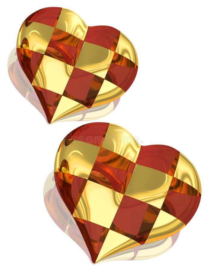 Corazón de la Navidad ilustración del vector