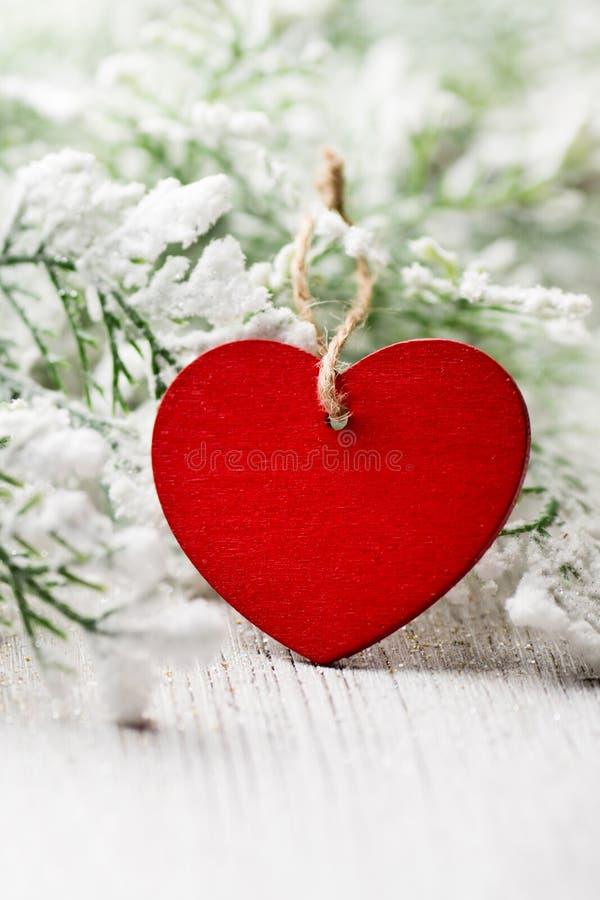 Corazón de la Navidad fotografía de archivo libre de regalías