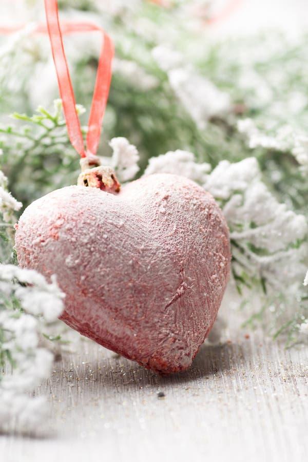 Corazón de la Navidad foto de archivo libre de regalías