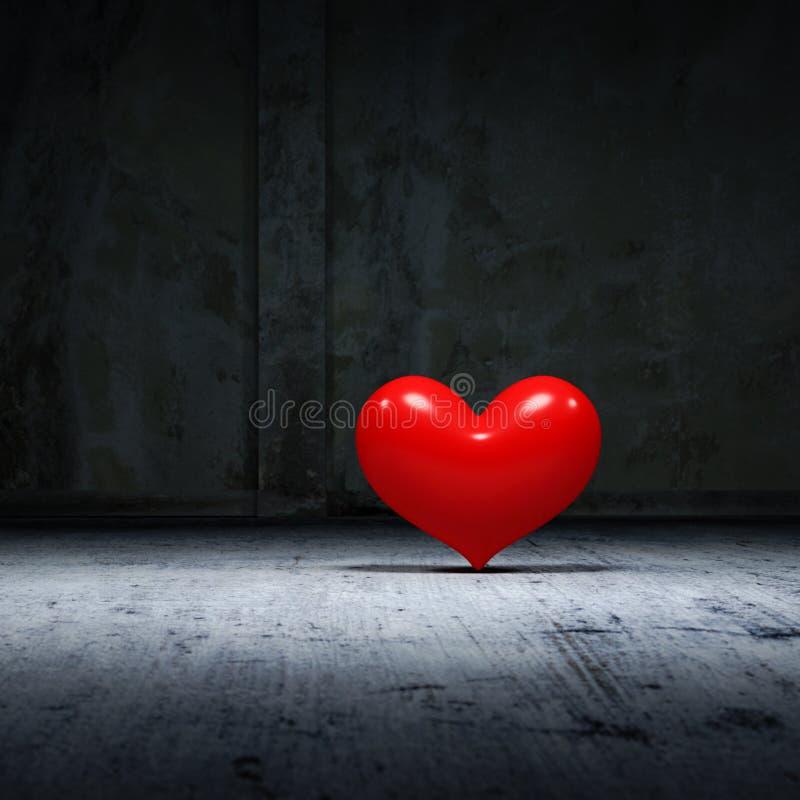 Corazón de la oscuridad stock de ilustración