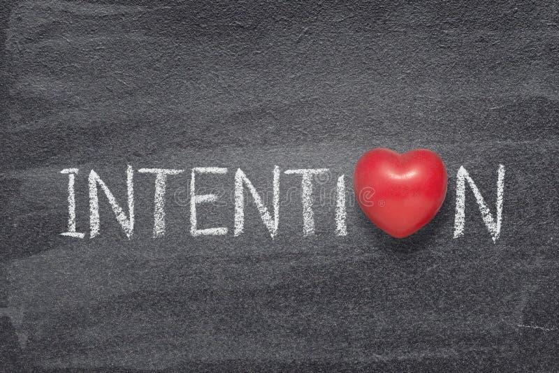 Corazón de la palabra de la intención fotos de archivo