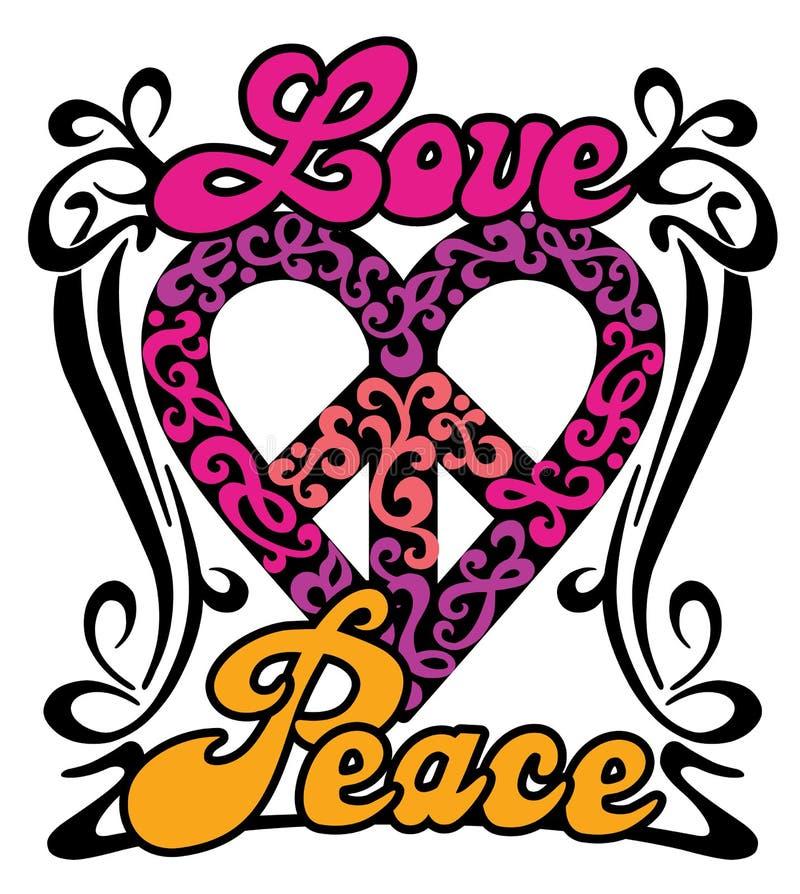 Corazón de la paz del amor libre illustration