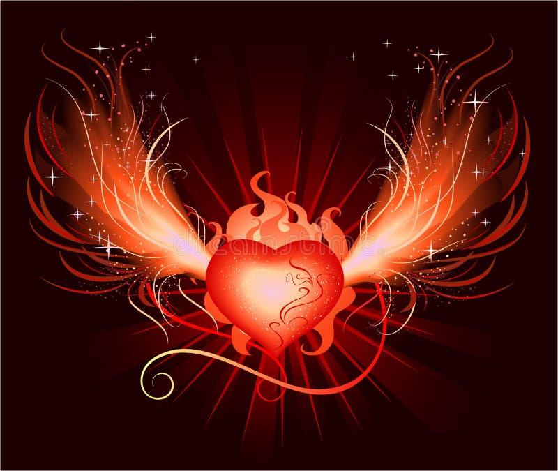 Corazón de la Phoenix stock de ilustración