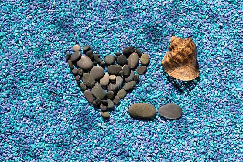 Corazón de la piedra fotografía de archivo