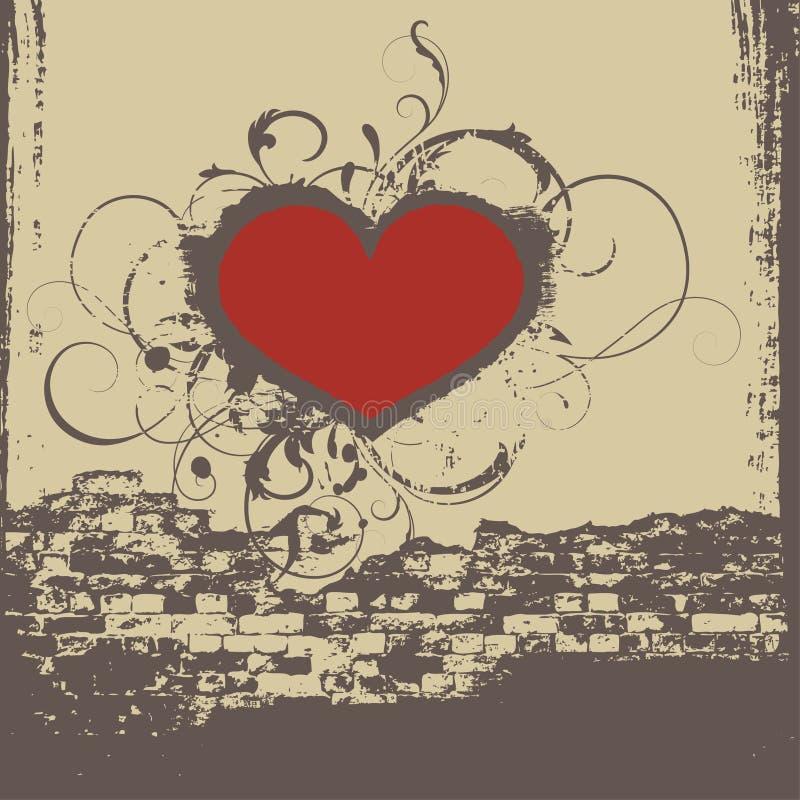 Corazón de la pintada stock de ilustración