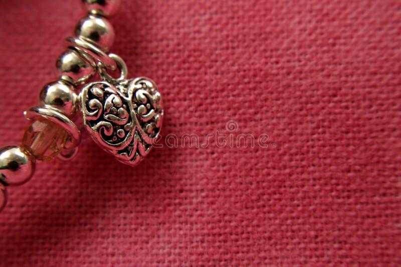Corazón de la plata esterlina fotos de archivo libres de regalías