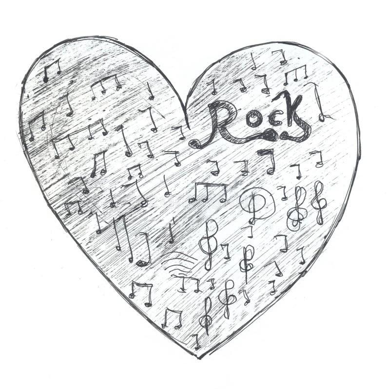 Corazón de la roca stock de ilustración