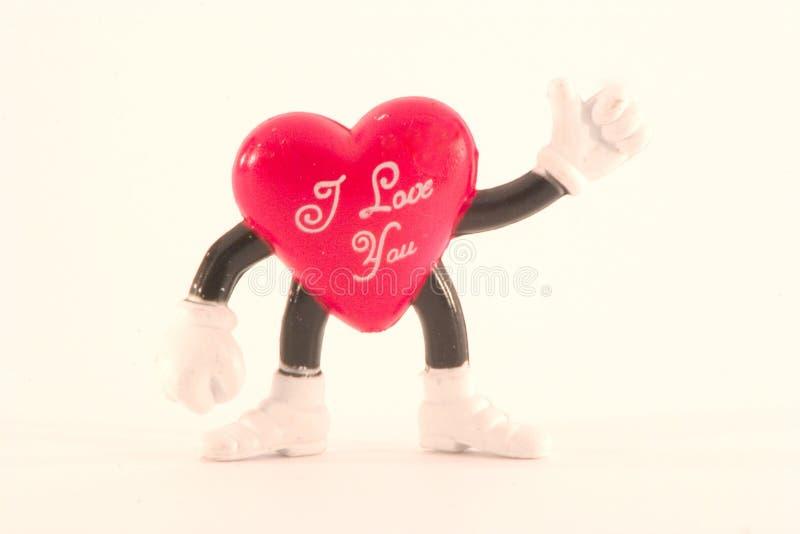 corazón de la St-tarjeta del día de San Valentín fotos de archivo