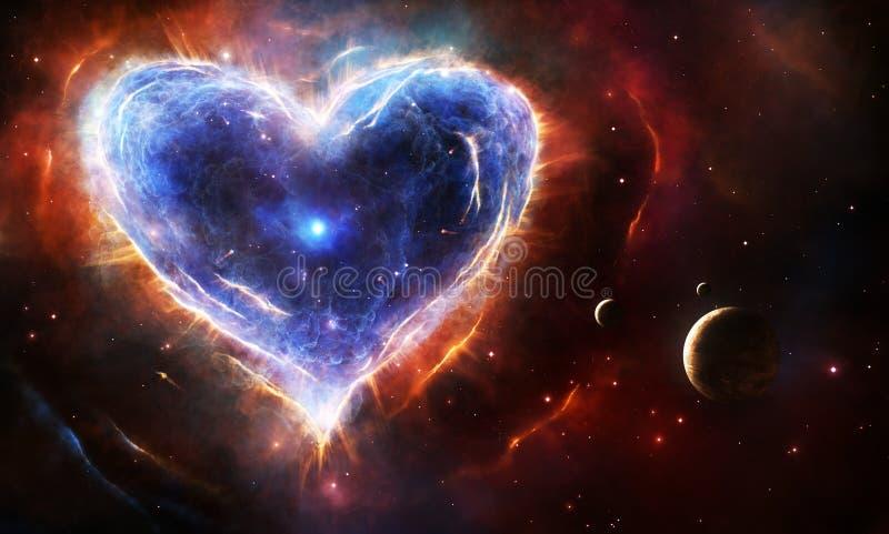 Corazón de la supernova stock de ilustración