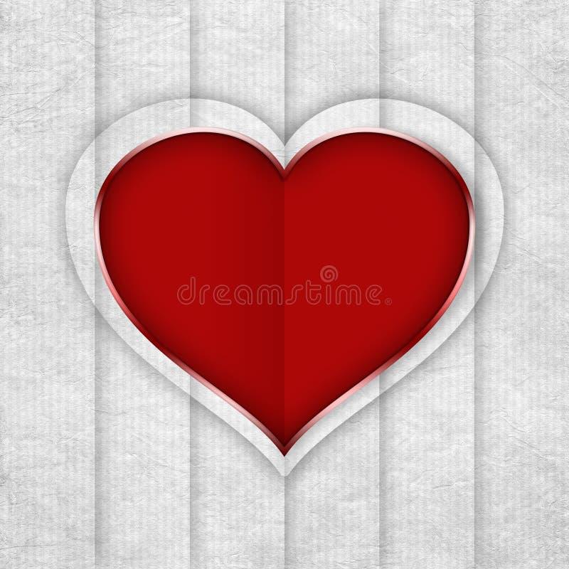 Corazón de la tarjeta del día de San Valentín stock de ilustración
