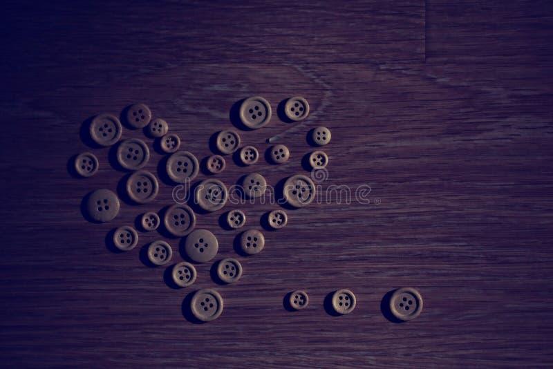 Corazón de la tarjeta del día de San Valentín de los botones stock de ilustración