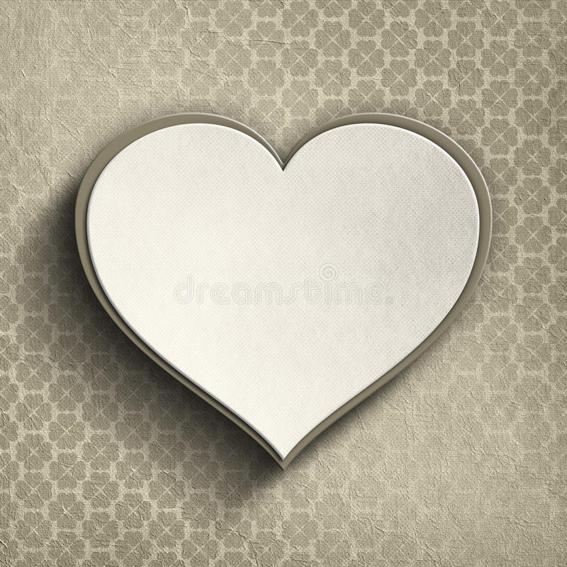 Corazón de la tarjeta del día de San Valentín en fondo modelado ilustración del vector