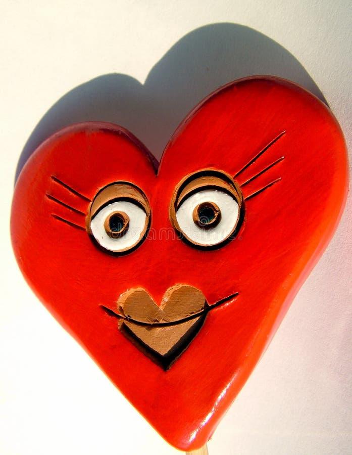 Corazón de la tarjeta del día de San Valentín, sonrisa foto de archivo libre de regalías