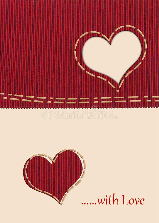 Corazón de la tela imagen de archivo